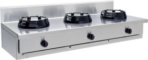 Gas Wok 3 brännare 3x21 kW - CC/03.BB - 1500x500x275 mm