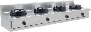 Gas Wok 4 brännare 4x21 kW - CC/04.BB - 2000x500x275 mm