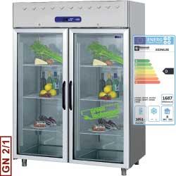 Kylskåp med glasdörr 1400 liter - AD2N/L2G 1500x820x2025