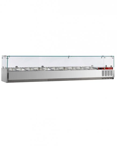 Kylranna-SX200-DV-R6-10xGN1-4-Hostskydd-i-glas-2000-mm