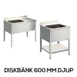 Diskbänk 600 mm djup