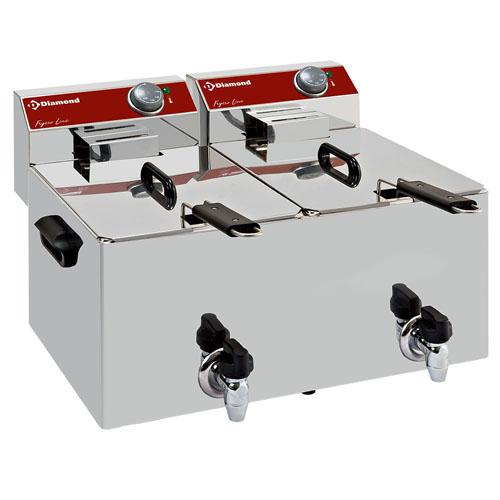 Elektrisk-bordsfritoser-2x-8-liter-kran